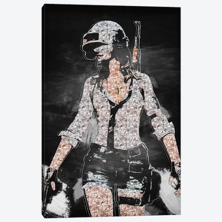 PUBG Girl II Canvas Print #DUR407} by Durro Art Canvas Wall Art