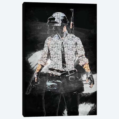 PUBG II Canvas Print #DUR409} by Durro Art Canvas Art Print