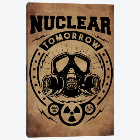 Nuclear Tomorrow Vintage Canvas Print #DUR40} by Durro Art Canvas Wall Art