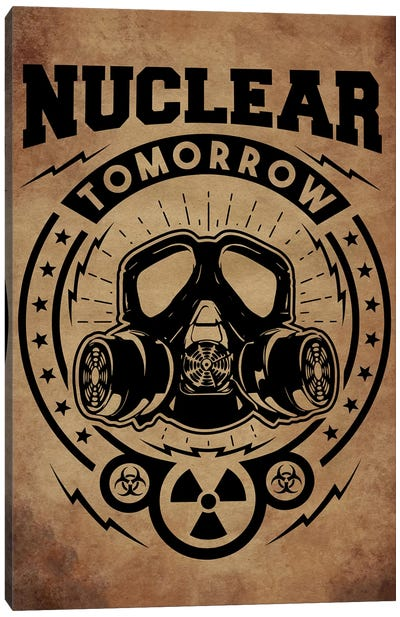 Nuclear Tomorrow Vintage Canvas Art Print
