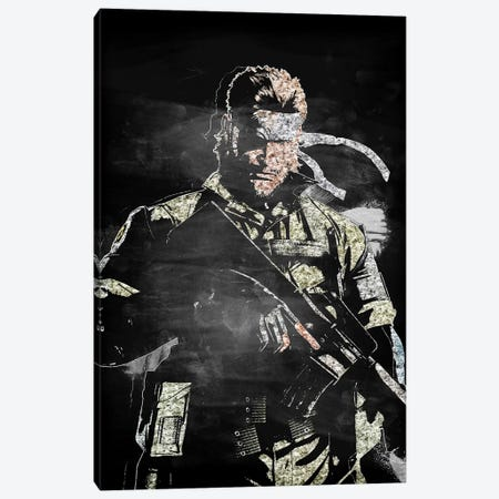 Solid Snake II Canvas Print #DUR410} by Durro Art Canvas Artwork