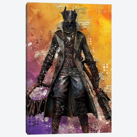 Bloodborne Watercolor Canvas Print #DUR416} by Durro Art Canvas Art Print