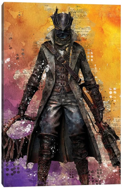 Bloodborne Watercolor Canvas Art Print
