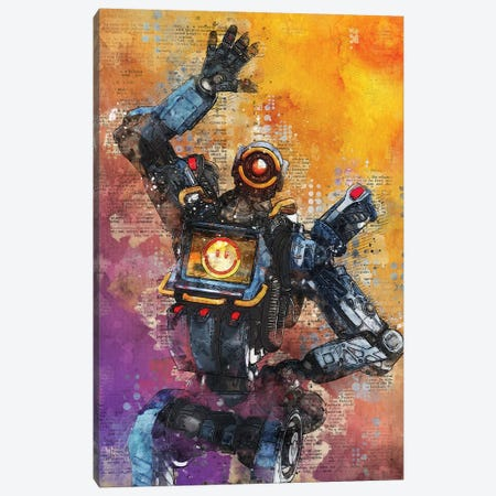 Pathfinder Watercolor Canvas Print #DUR420} by Durro Art Art Print
