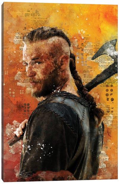 Ragnar Watercolor Canvas Art Print