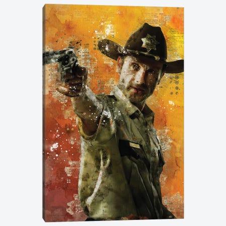 Rick Grimes Canvas Print #DUR426} by Durro Art Canvas Artwork