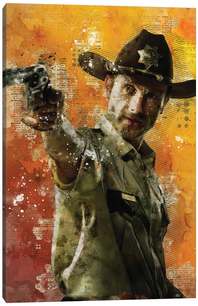 Rick Grimes Canvas Art Print