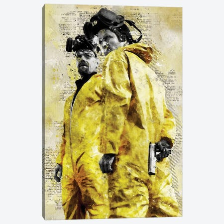 Walter And Jesse Watercolor Canvas Print #DUR427} by Durro Art Canvas Art