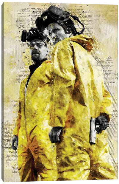 Walter And Jesse Watercolor Canvas Art Print