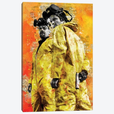 Breaking Bad Watercolor Canvas Print #DUR429} by Durro Art Canvas Art Print