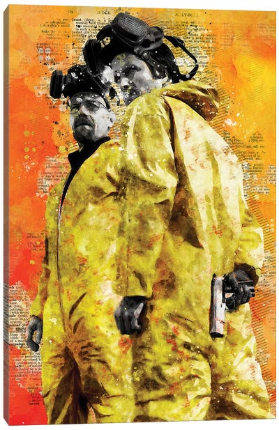 Breaking Bad Watercolor Canvas Art Print