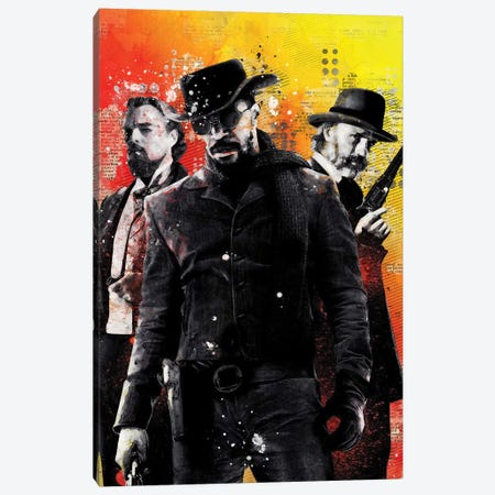 Django Watercolor Canvas Print #DUR433} by Durro Art Canvas Art