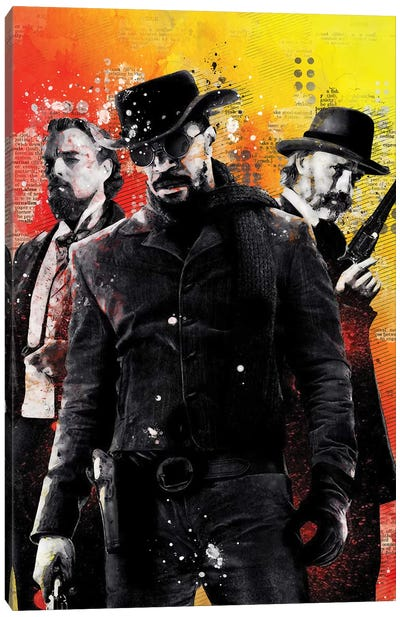 Django Watercolor Canvas Art Print
