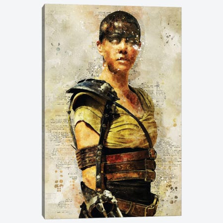 Furiosa Watercolor Canvas Print #DUR434} by Durro Art Art Print