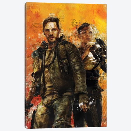 Fury Road Watercolor Canvas Print #DUR435} by Durro Art Canvas Print