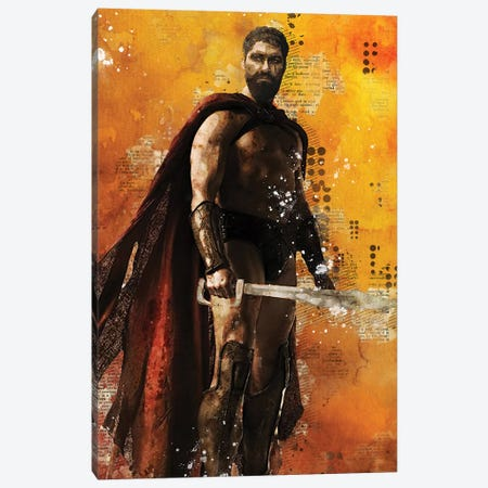 Leonidas Watercolor Canvas Print #DUR437} by Durro Art Art Print