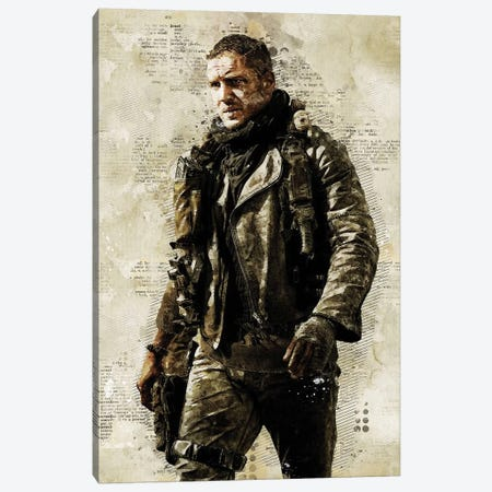 Mad Max Watercolor Canvas Print #DUR438} by Durro Art Canvas Artwork