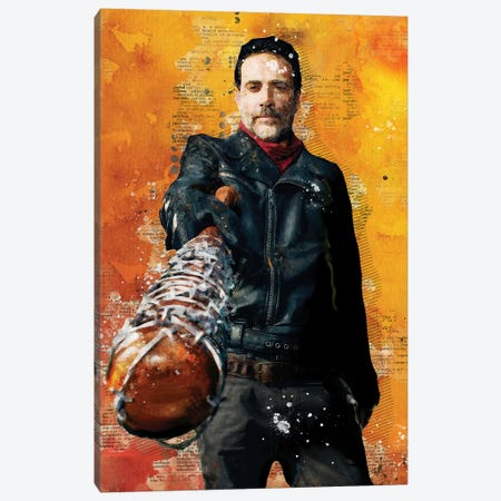 Negan Watercolor Red Canvas Print #DUR440} by Durro Art Canvas Print