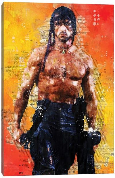Rambo Watercolor Canvas Art Print