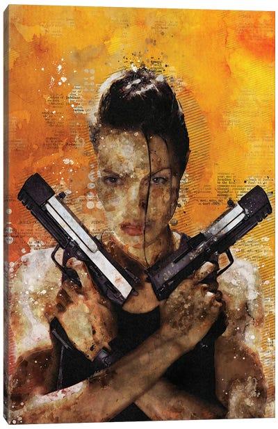 Tomb Raider Watercolor Red Canvas Art Print