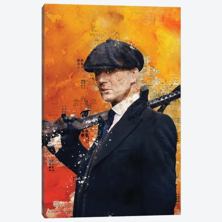 Tommy Shelby Watercolor 2 Canvas Print #DUR447} by Durro Art Canvas Artwork