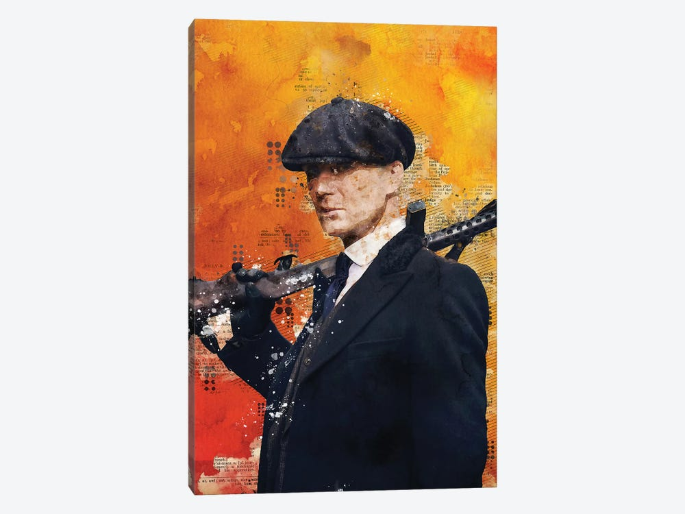 Tommy Shelby Watercolor 2 by Durro Art 1-piece Canvas Wall Art