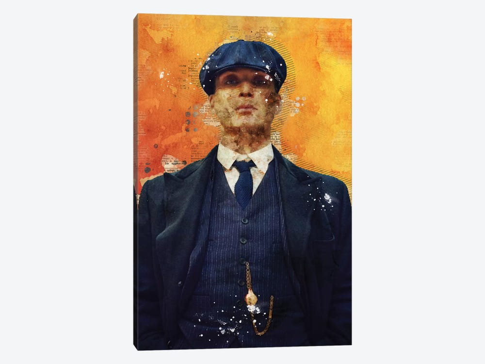 Tommy Shelby Watercolor by Durro Art 1-piece Art Print