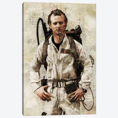 Venkman Watercolor Canvas Print #DUR449} by Durro Art Art Print