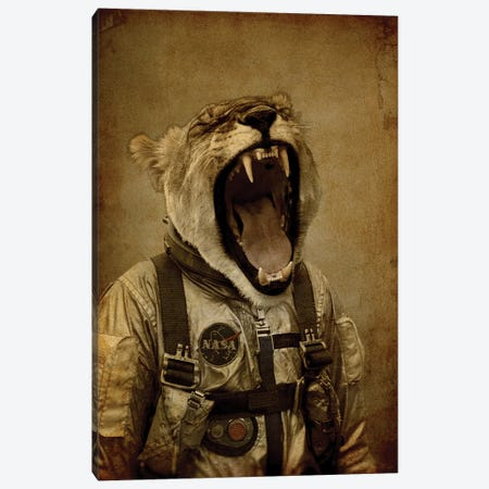 Space Roarrr Canvas Print #DUR45} by Durro Art Canvas Print