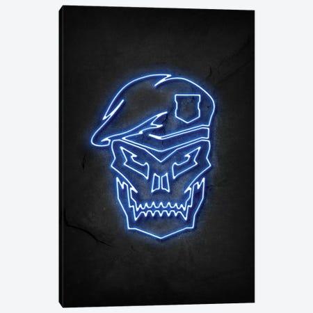 Black Ops Neon Blue 3-Piece Canvas #DUR466} by Durro Art Canvas Art