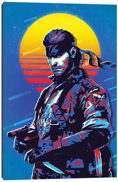 Solid Snake Retro Canvas Art Print