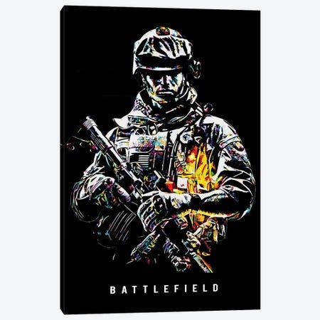 Battlefield Wpap Canvas Print #DUR488} by Durro Art Canvas Art Print