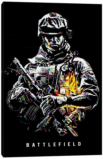 Battlefield Wpap Canvas Art Print