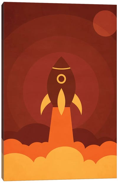Up In The Space Canvas Art Print