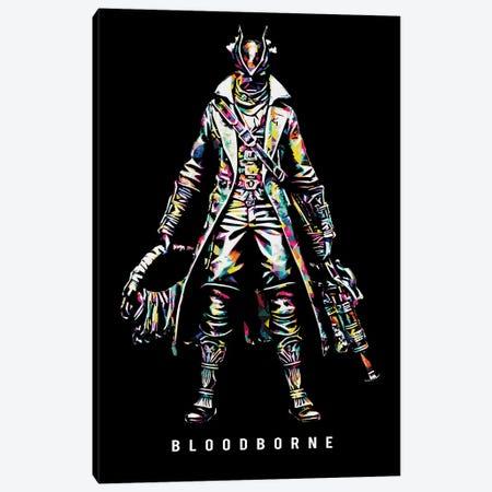 Bloodborne Wpap Canvas Print #DUR490} by Durro Art Canvas Wall Art