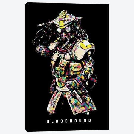 Bloodhound Wpap Canvas Print #DUR491} by Durro Art Canvas Wall Art