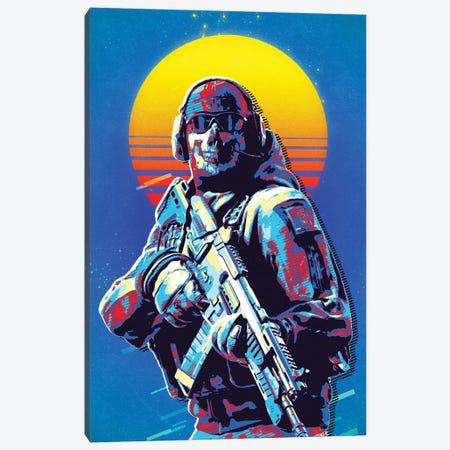 Cod Soldier Retro Canvas Print #DUR505} by Durro Art Canvas Art Print