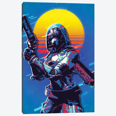 Destiny Hunter Retro Canvas Print #DUR509} by Durro Art Canvas Art