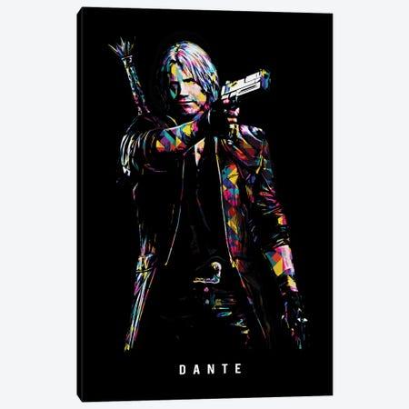 Dante Wpap Canvas Print #DUR514} by Durro Art Canvas Artwork