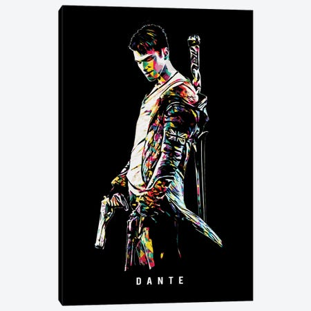 Dante 2 Wpap Canvas Print #DUR515} by Durro Art Canvas Wall Art