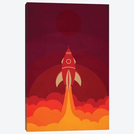 To The Moon Canvas Print #DUR52} by Durro Art Canvas Print