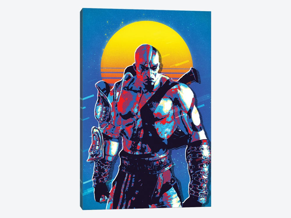 God Of War Kratos Retro by Durro Art 1-piece Canvas Print