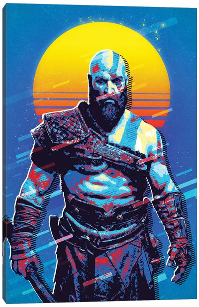 Kratos Retro Canvas Art Print