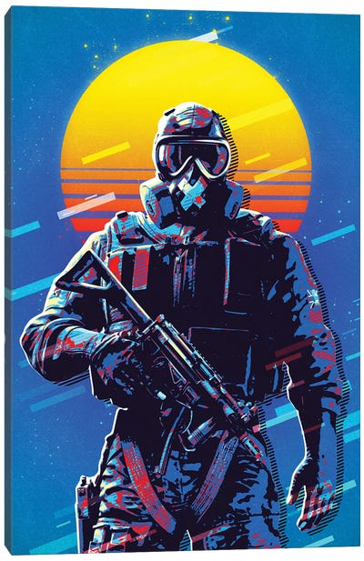 Mute Retro Canvas Art Print