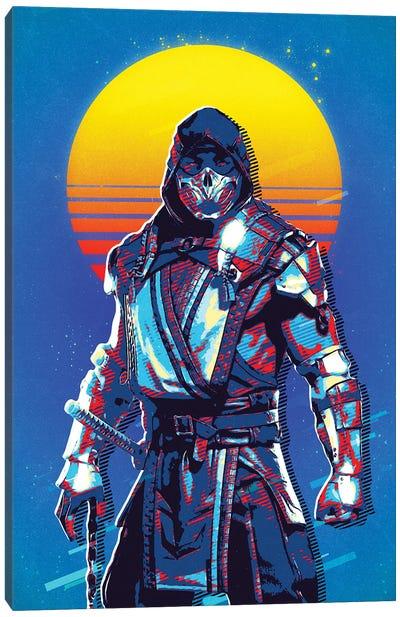 Scorpion Retro Canvas Art Print