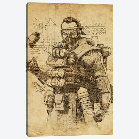 Caustic DaVinci Canvas Print #DUR552} by Durro Art Canvas Art Print