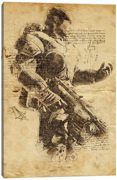 Gears Of War DaVinci Canvas Art Print