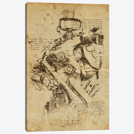 Halo 2 DaVinci Canvas Print #DUR557} by Durro Art Canvas Wall Art