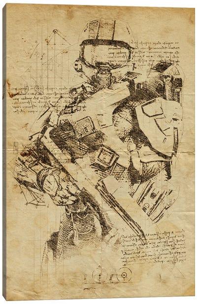 Halo 2 DaVinci Canvas Art Print