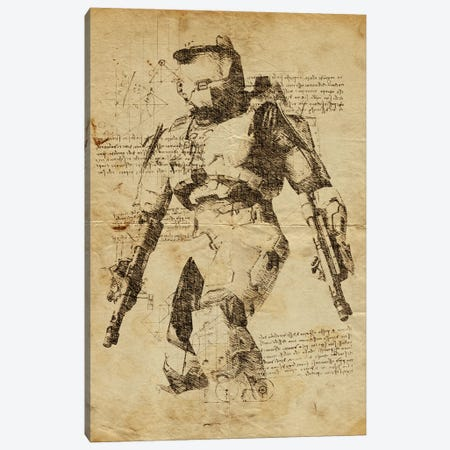 Halo DaVinci Canvas Print #DUR558} by Durro Art Art Print